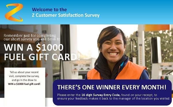 Z Energy Survey Sweepstake