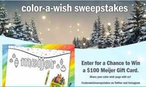 Meijer Color A Wish Sweepstakes