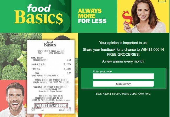 Foodbasicsfeedback.com Survey