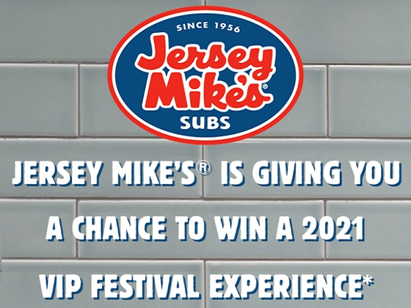 Jersey Mike's Live Nation Sweepstakes
