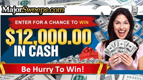 Major Sweeps Cash Sweepstakes 2020