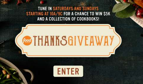 Food Network Thanksgiving Sweepstakes Code Word
