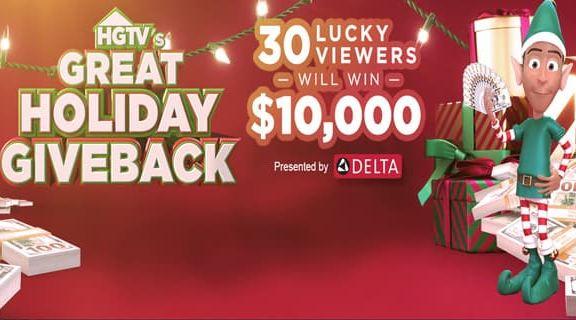 HGTV Great Holiday Giveback Sweepstakes