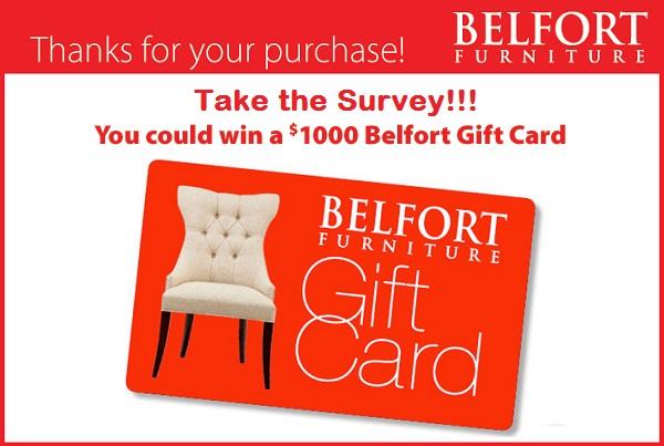 Take Belfort Furniture Survey