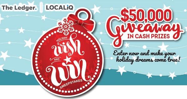 GateHouse Media Holiday Cash Sweepstakes 2020