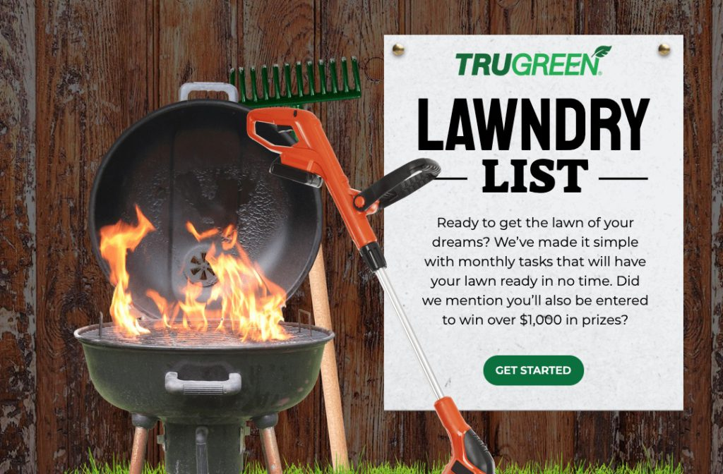 TruGreen Lawndry List Sweepstakes 2021