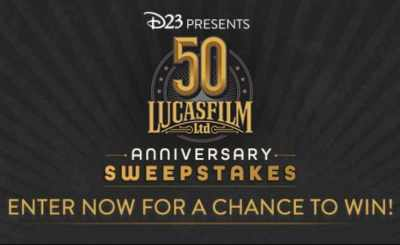 D23 Lucasfilm 50th Anniversary Sweepstakes