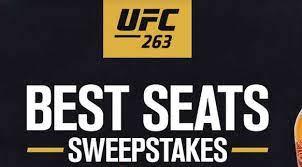 UFC Best Seats Contest 2021 aka UFC 264 Best Seats Sweepstakes