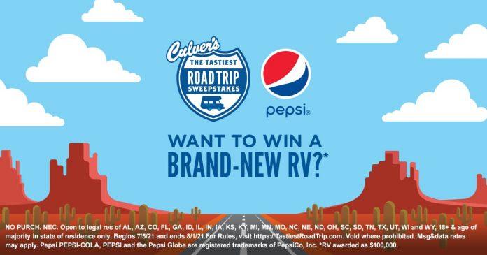 Culver's Tastiest Road Trip Instant Win Game & Sweepstakes 2021