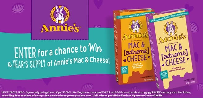 Annie's Cheesy Sweepstakes 2021