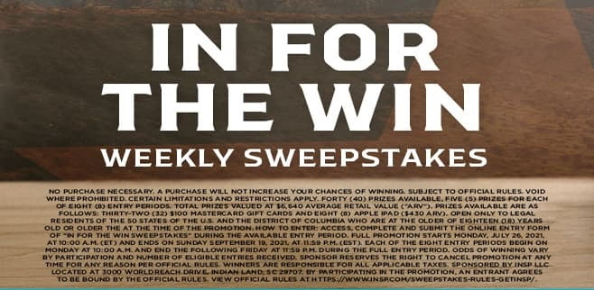 INSP In For The Win Sweepstakes 2021