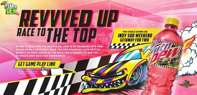 Mountain Dew Revvved Up Race To The Top Sweepstakes 2021