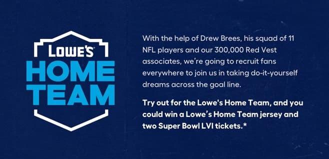 Lowe's Home Team Contest 2021
