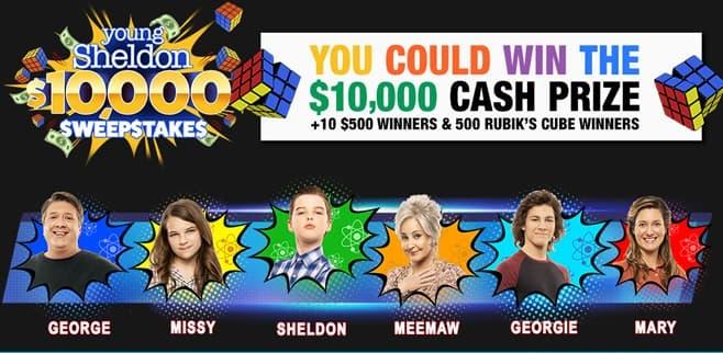 Young Sheldon $10,000 Sweepstakes 2021
